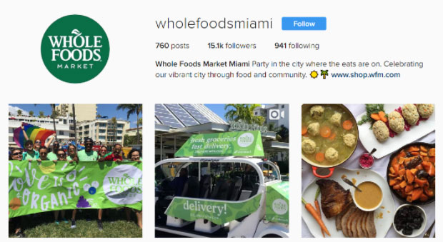 Image from Whole Food's Miami Instagram page