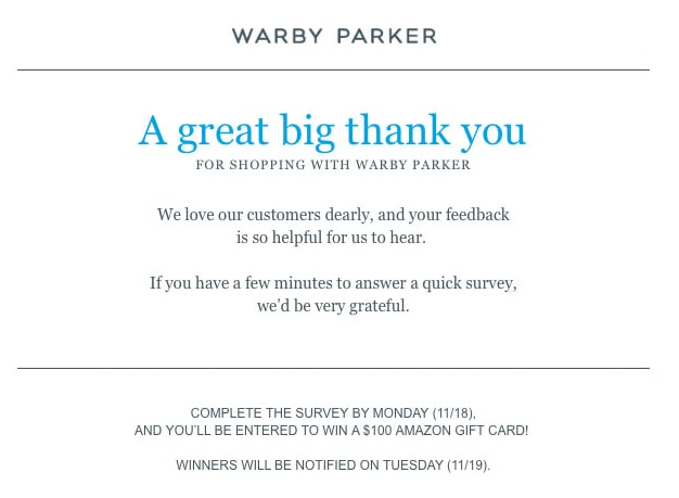 order confirmation warby parker