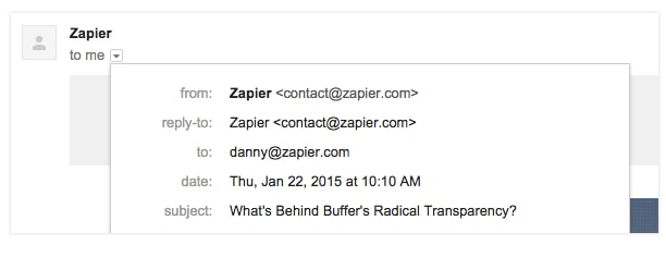 email address zapier